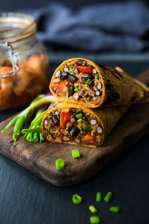 Kimchi Burrito- a vegetarian Korean Burrito