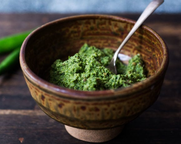 green curry paste, made from scratch