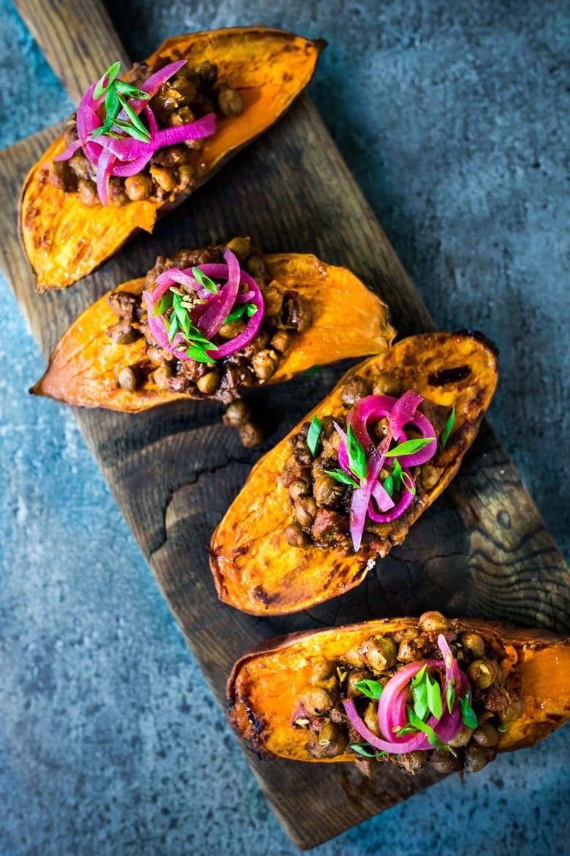 Chana Masala Sweet Potatoes