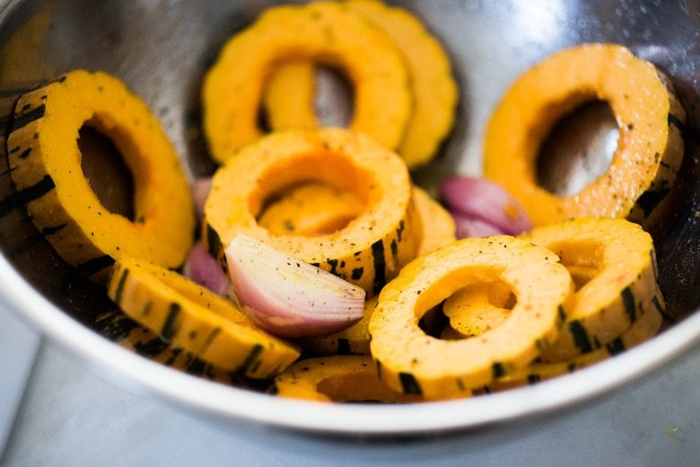seasoning Delicata squash