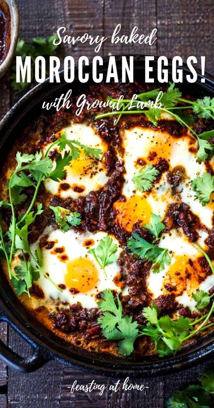 Moroccan Eggs with Harissa Yogurt