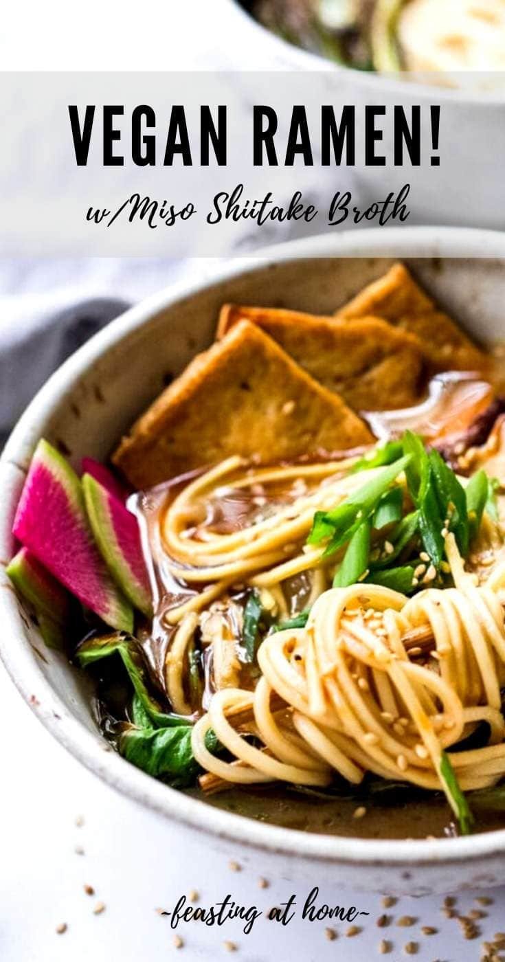Vegan Ramen with Miso Shiitake Broth