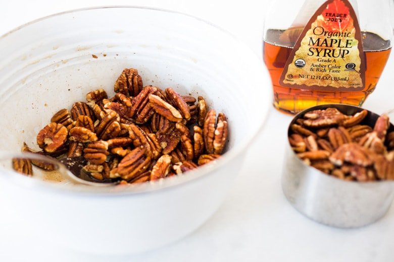 maple roasted pecans