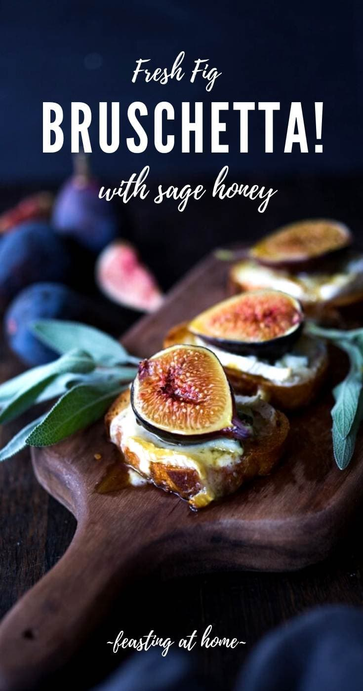 Fig Bruschetta with Cambozola and Sage Honey