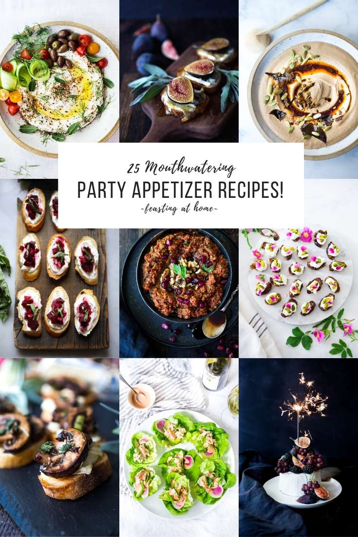 25 Mouthwatering Party Appetizers (that are NOT boring!). Festive little bites that pack a lot of flavor- with many vegetarain options!
