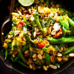 Indian Fried Rice also called Vagharela bhaat- infused with fragrant spices and healthy veggies.