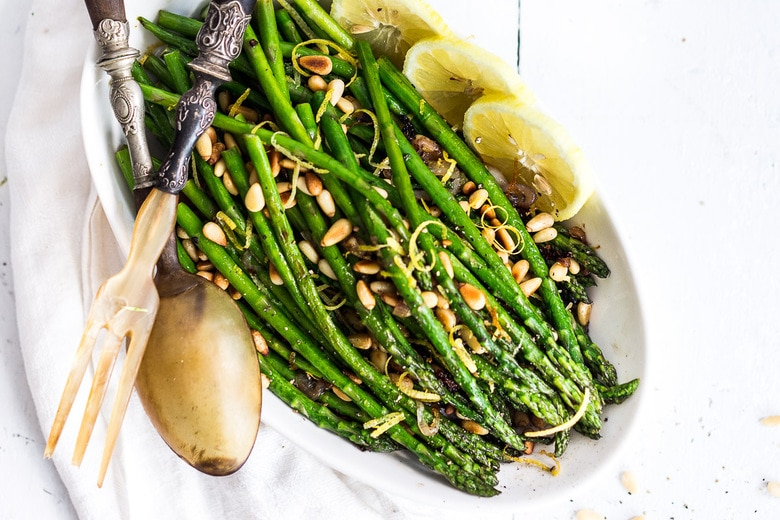 Lemony Roasted Asparagus Feasting At Home