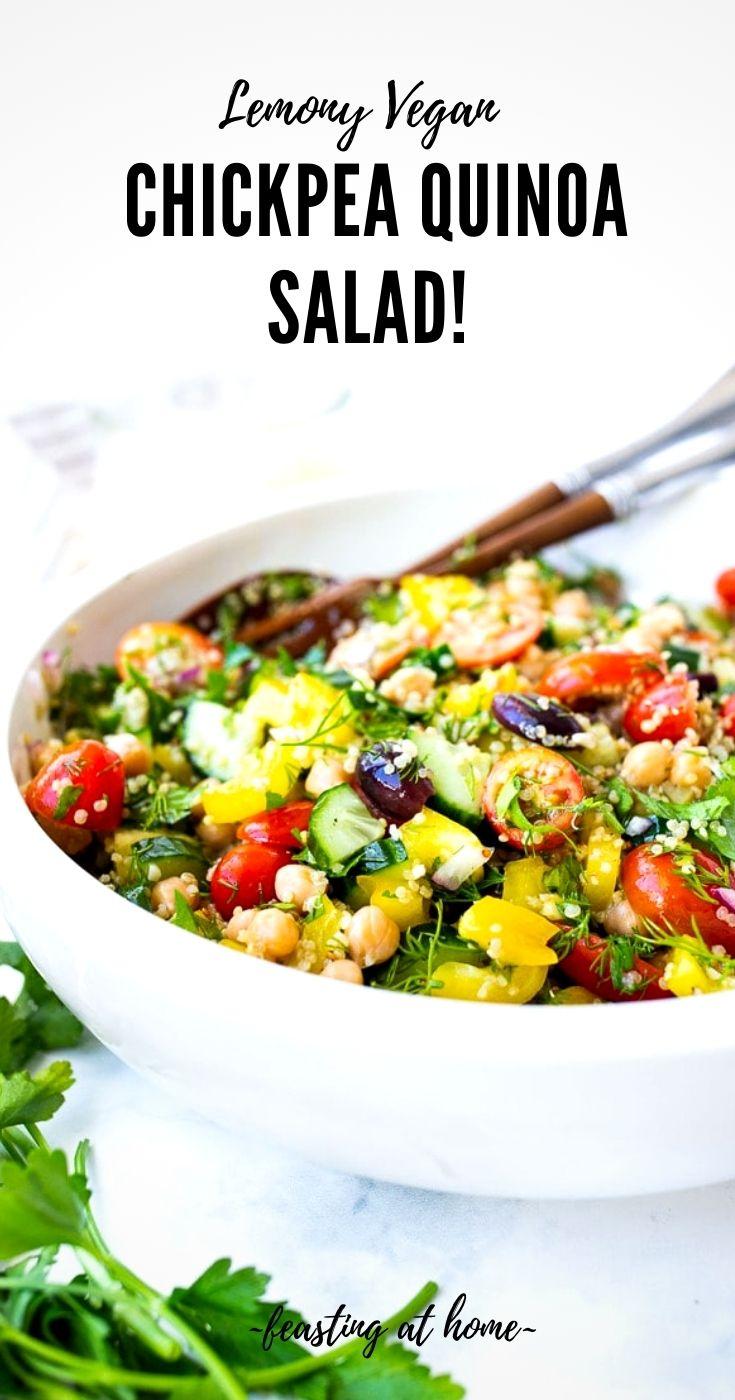 Lemony Chickpea Quinoa Salad