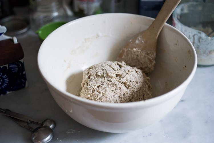 A beginner's recipe for sourdough bread that requires no kneading and rises overnight. Easy and simple!