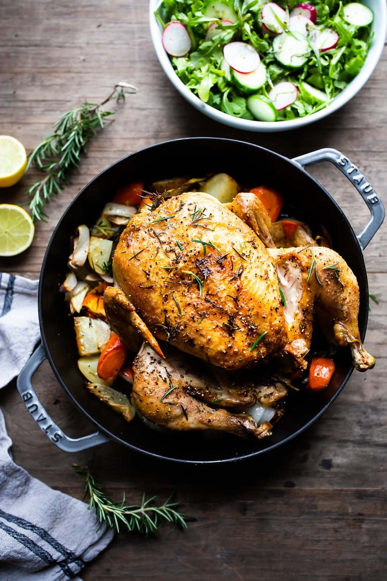 How To Roast A Whole Chicken Feasting At Home