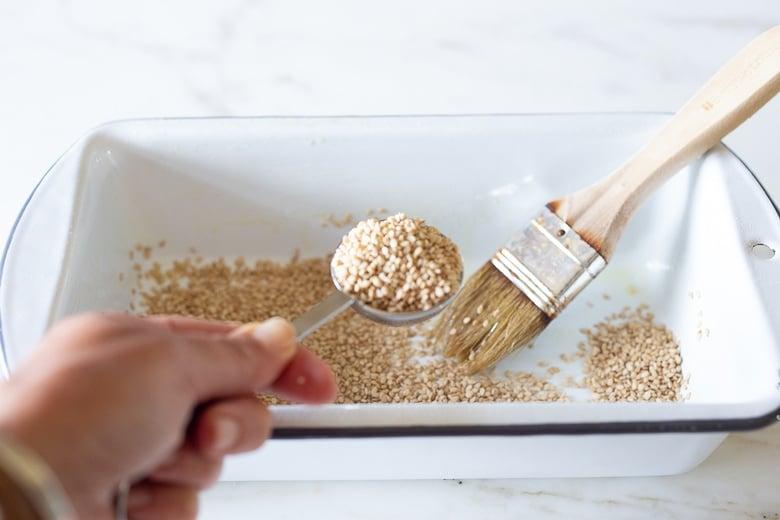 sesame seed crust