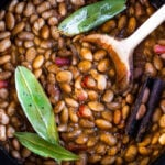 How to cook flavorful healthy vegan Mexican Pinto Beans using dry beans! A Simple easy recipe that can be made on the stovetop or in an Instant Pot. A delicious addition to your Mexican Feast, or weekly meal prep. It can be made ahead!  Allow 6 hours of soaking time.  #pintobeans