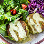 These Broccoli Quinoa Cakes can be made in 30 minutes & are a delicious healthy meal that your whole family will love!