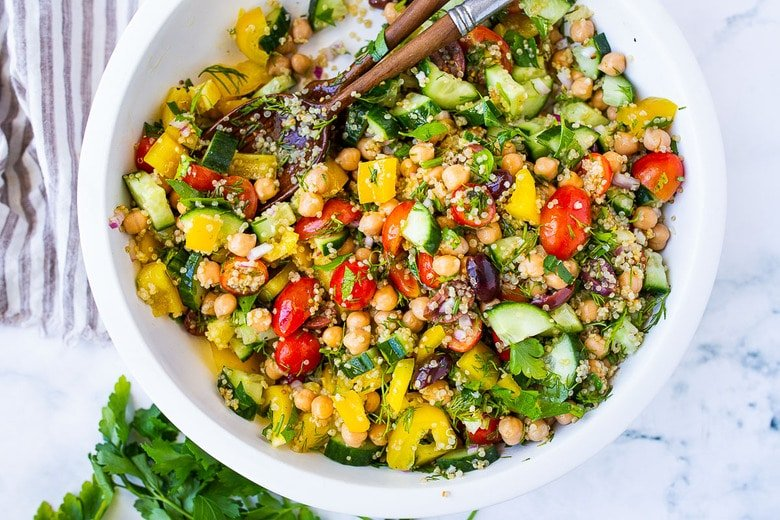Lemony Chickpea Quinoa Salad Feasting At Home