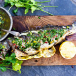 A simple recipe for grilled branzino topped with gremolata that can be made in 40 minutes. Plus how to grill whole fish.