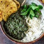 A healthy recipe for Lentil Dal with Spinach, sometime called Saag Dal, this is bursting with authentic Indian flavors!