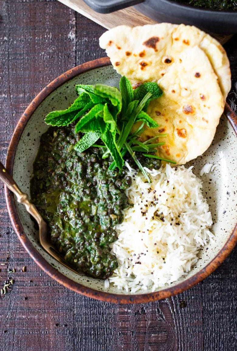 Our 20 BEST Vegetarian Recipes | Emerald Dal - is one of the most delicious, plant-based Indian meals! This version is packed with Spinach making it especially high in nutrients and flavor! Rich, fragrant, and packed with protein, think of this Spinach Lentil Dal - like Saag Paneer, but substituting lentils instead of the Cheese! Super tasty and healthy.  #dal #lentilrecipes #lentildal