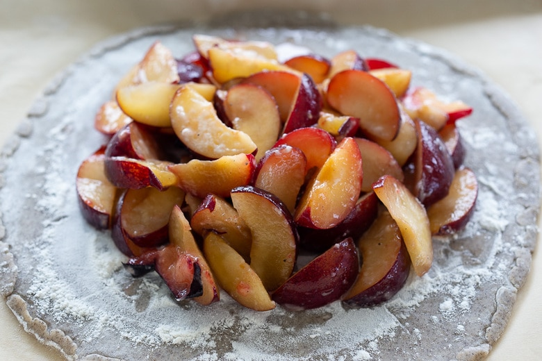 how to make a plum galette