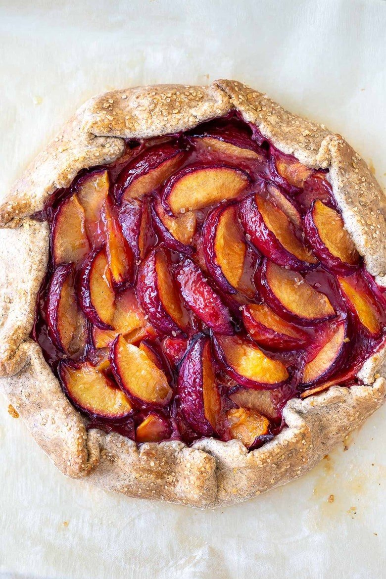 A simple recipe for Plum Galette with Buckwheat Crust. A pinch of five-spice adds a whisper of the exotic.