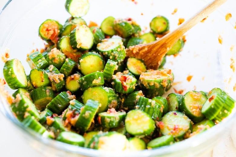 seasoning the pickles