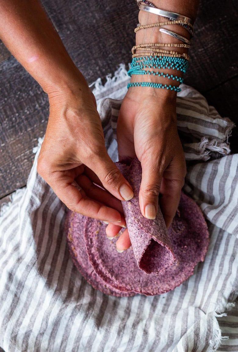 How to make homemade tortillas from scratch using corn, flour or a blend, with a sourdough option! #tortillas