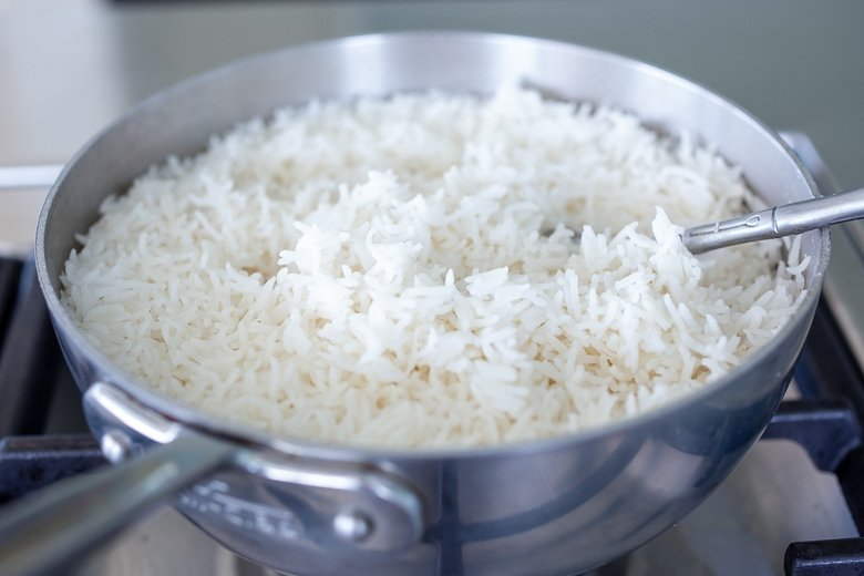How to make lemon rice- cooked basmati rice