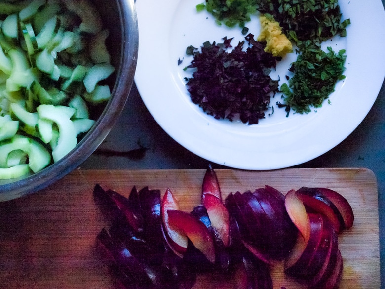 plum salad ingredients!
