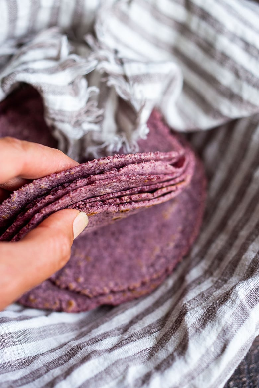 How to make homemade tortillas using corn, flour or a blend! #tortillas