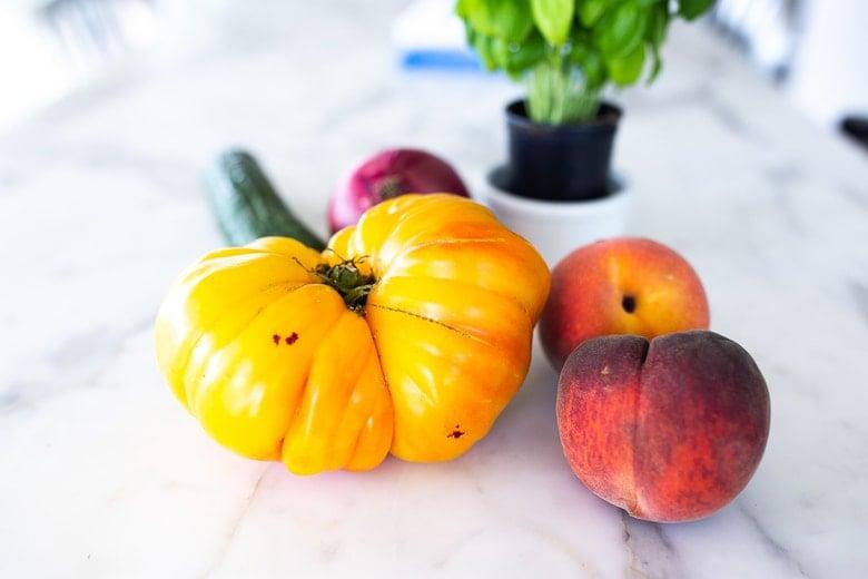 peach tomato gazpacho ingredients
