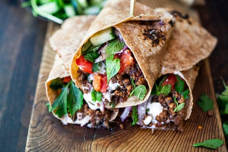 Turkish Lamb Wraps Feasting At Home