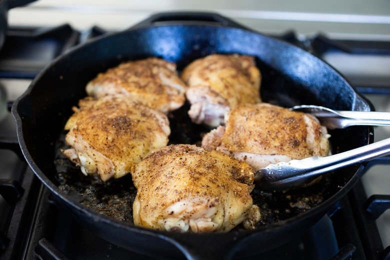 Pan Searing Five-Spice chicken