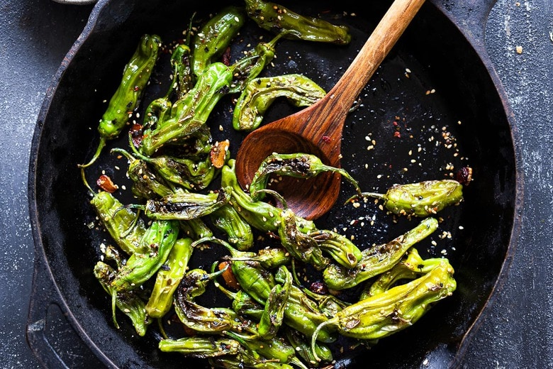 how to make blistered Shishito peppers