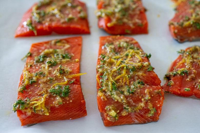 marinate the salmon