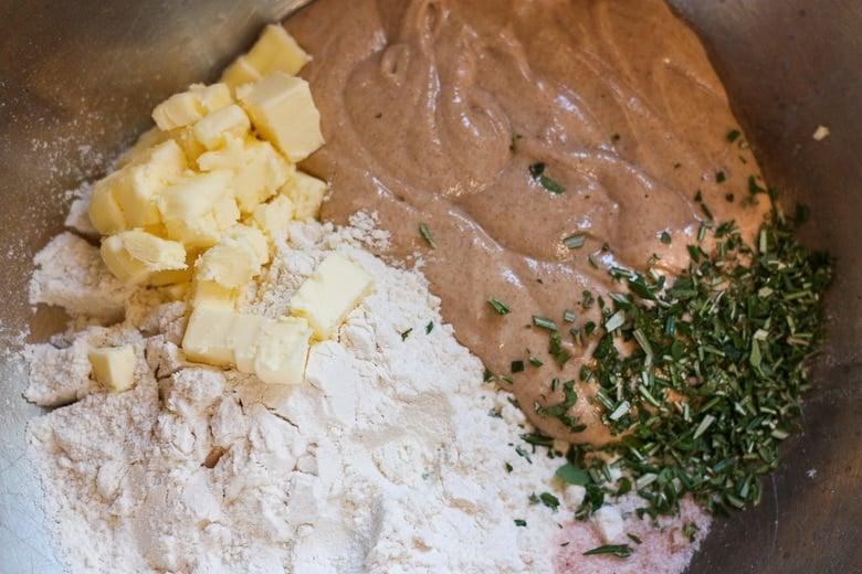 making sourdough crackers