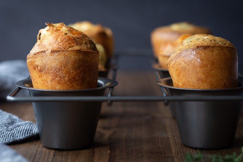 Parmesan Popovers With Thyme Feasting At Home