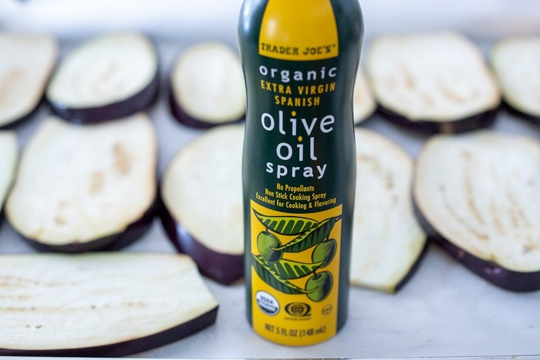 spray with olive oil