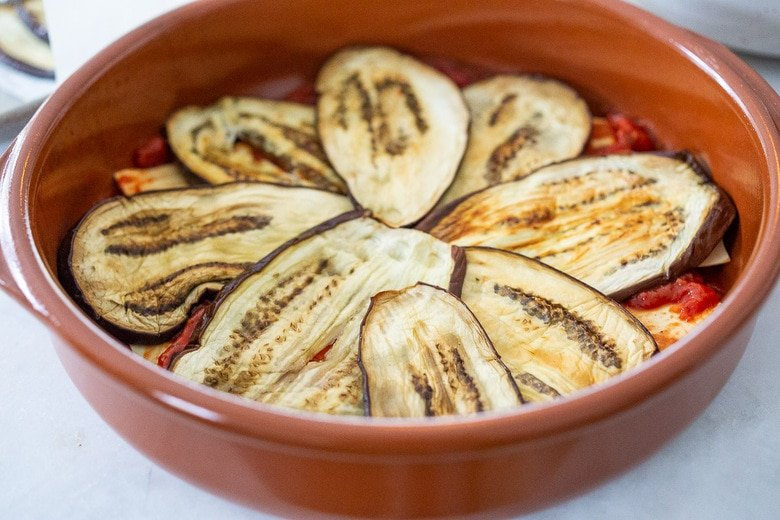 layer the eggplant lasagna.