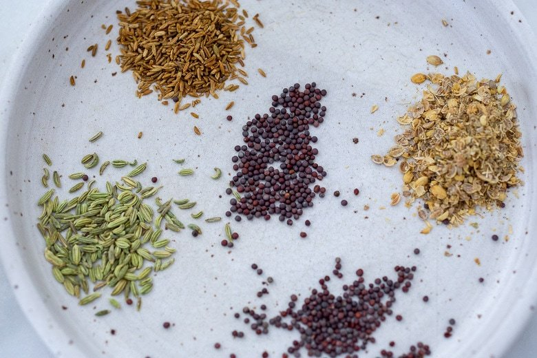 whole spices in dal