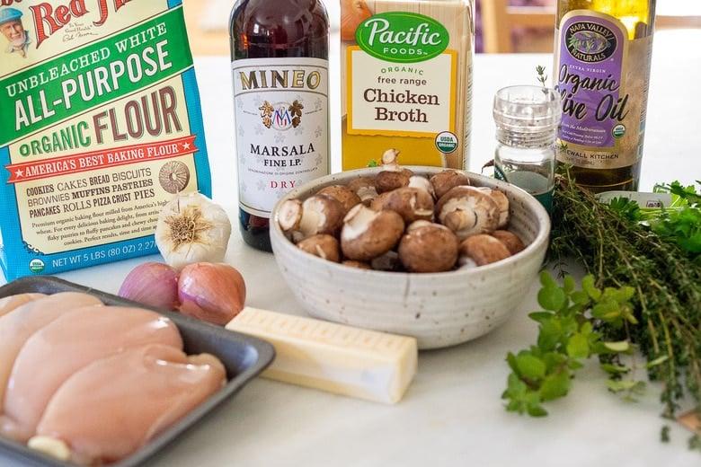 Ingredients in Chicken Marsala