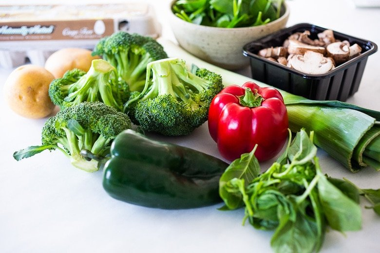 veggies for the frittata