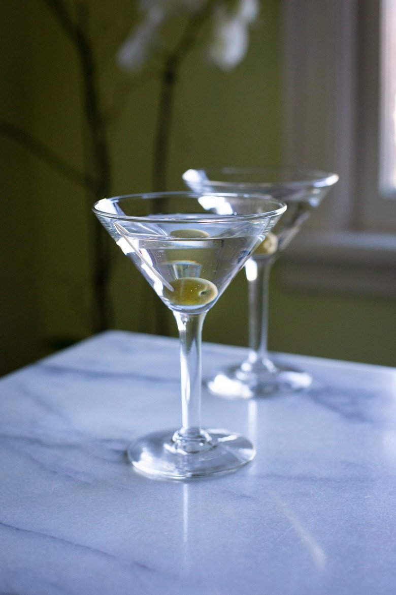 How to make a classic, Dry Gin Martini that would've made Winston Churchill proud - we skip the vermouth entirely to better feature the clean and complex characteristics of today's top-shelf gins. #ginmartini #drymartini #martini