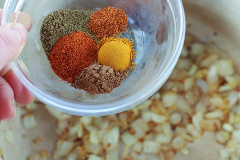 add the spices