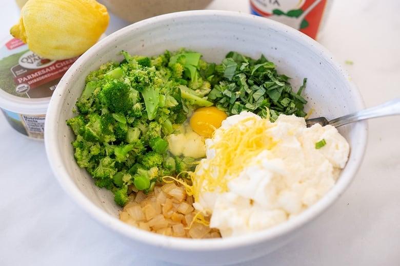Make the broccoli manicotti filling
