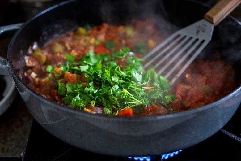 Add fresh parsley.