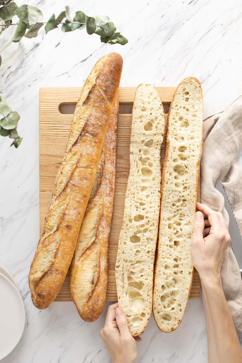 How to Make a Baguette! This sourdough baguette is everything you want in the French classic--a crunchy crust, an open, airy crumb, and lots and lots of flavor. And it's easier to make than you think! Eat it plain, slathered in butter, or serve it with your favorite soup.