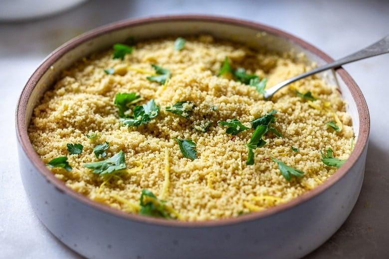 garnish the couscous
