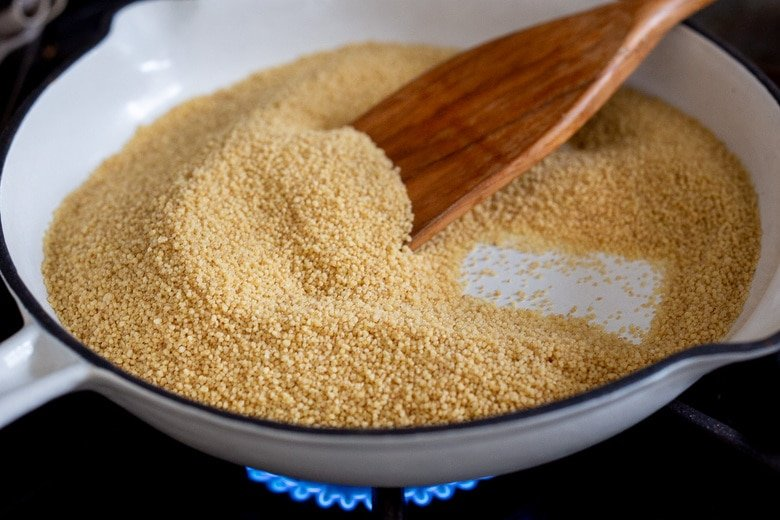 for the BEST flavor, toast the couscous in a dry skillet