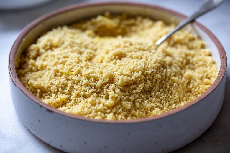 fluff the couscous.