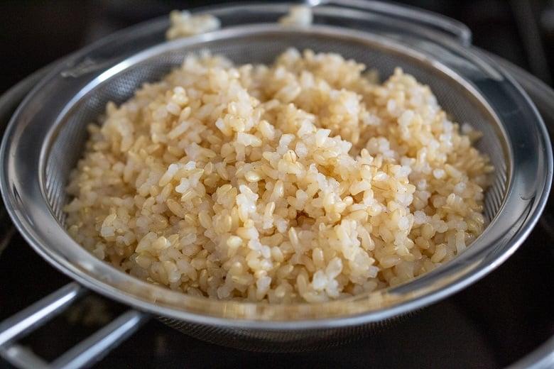 brown rice for mushroom bowl