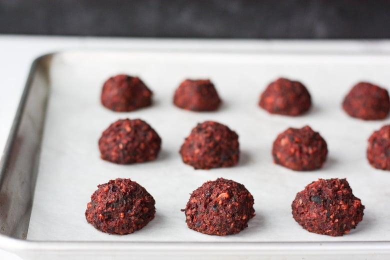 baked beet balls